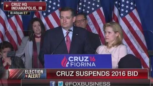 Cruz suspends